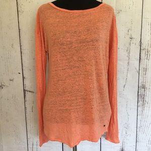 Calvin Klein Orange Linen Top | Long sleeves 🍁